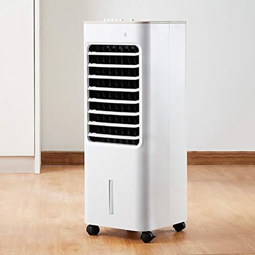 YUN HAI Ventilador de refrigerador evaporativo portátil 3 velocidades con Rueda de Ruedas, humidificación de Aire, Aire Acondicionado Enrollable Ventilador de enfriamiento silencioso