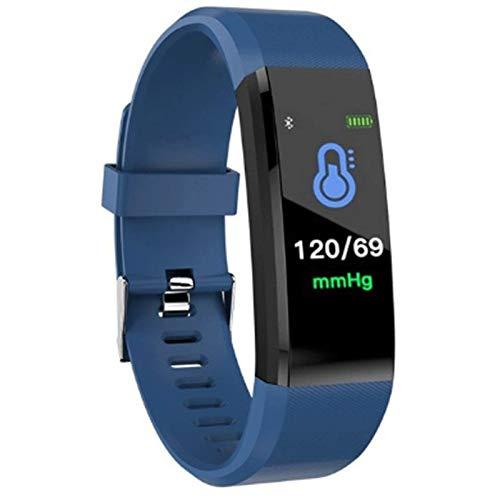 CXSD Reloj inteligente para hombre y mujer pulsera inteligente Monitor Fitness Tracker (color: azul)