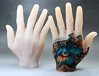 Zombies Soft Silicone Tattoo Practice Hand Fake Skin (Left Hand)