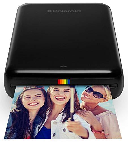 Polaroid ZIP Handydrucker mit ZINK Zero tintenfreier Drucktechnologie - Schwarz + 2x3 Zoll Premium ZINK Fotopapier (50 Blatt) - Kompatibel mit Polaroid Snap, Z2300, SocialMatic Sofortbildkameras