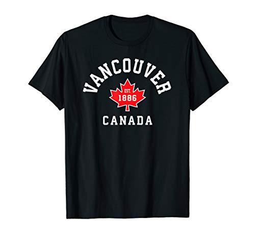 mächtig der welt Vancouver Kanada Kanada Flagge Ahornblatt Geschenk T-Shirt T.