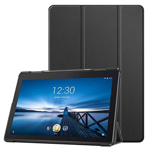 Fintie Hülle für Lenovo Tab E10 - Superdünne Superleicht Schutzhülle mit Standfunktion für Lenovo Tab E10 TB-X104F 10,1 Zoll Tablet 2019(Nicht für Lenovo Tab M10), Schwarz