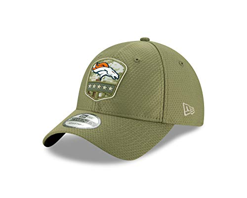 New Era Denver Broncos 9twenty Adjustable Cap On Field 2019 Salute to Service Olive - One-Size