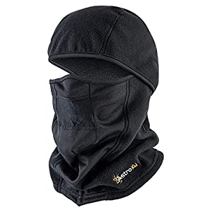AstroAI Balaclava Small Size Ski Mask for Cold Weather Windproof Breathable Face Mask for Men Women Riding Motorcycle & Snowboarding Skiing, Black