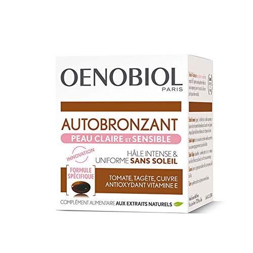Oenobiol - Autobronzant 30 capsules Solaire Peau claire et sensible Oenobiol