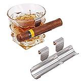 TOIKA Whiskey Stainless Steel Cigar Holder (2 Pack)