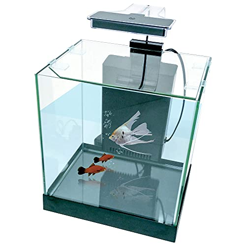of penn plax aquariums dec 2021 theres one clear winner PENN-PLAX Cascade All-in-One Desktop Aquarium Kit – Great for Small & Tight Spaces – Marine & Freshwater Applications – 3.2 Gallons