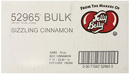 Jelly Belly Sizzling Cinnamon Jelly Beans, 10-Pound Box