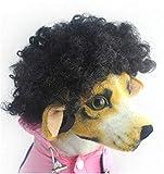Yonfan - Peluca Ajustable para Perro, Disfraz de Halloween, Disfraz de Navidad para Perros pequeños, Gatos y Fiestas