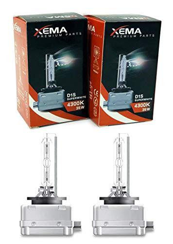 XEMA D1S Xenon Brenner Birne Lampe 2er Set 12V 35W 4300K Super White Long Life