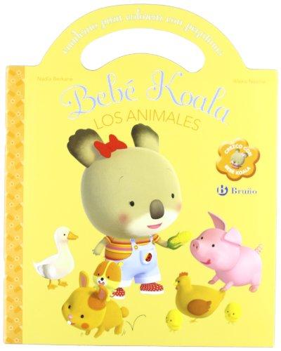 Los animales: Cuaderno para colorear con pegatinas (Castellano - Bruño - Bebe Koala)