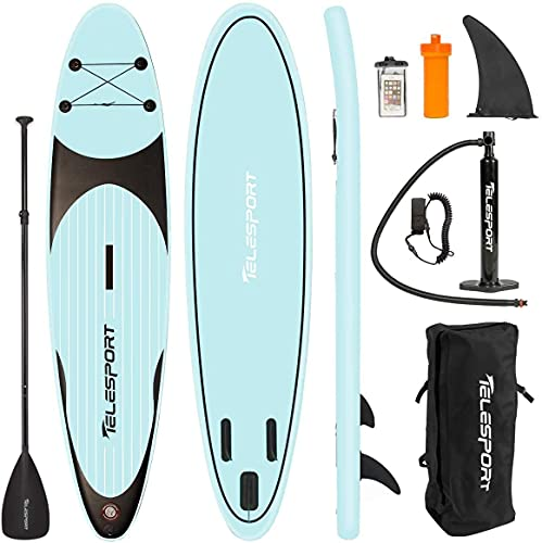 TELESPORT Paddle Boards 11' x 30'x6' Inflatable Stand Up Paddleboard for Adult, Blow Up SUP Board, 350lbs Weight Capacity...
