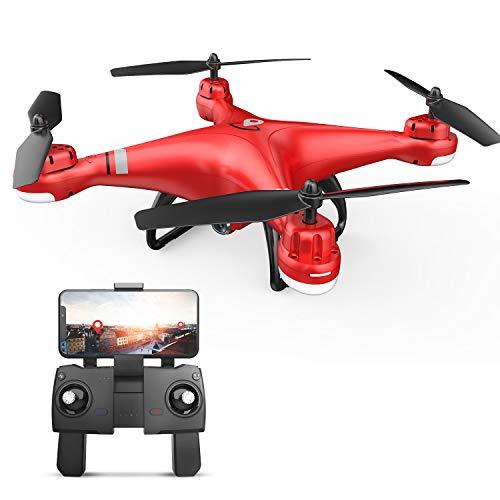 Eanling GPS Drohne HS110G mit 1080P HD Kamera,WiFi FPV Live Übertragung,RC Quadrocopter ferngesteuert mit Live Video,Auto Rückkehr,längere Flugzeit,angelegte Flugpfade,Follow Me für Kind und Anfänger