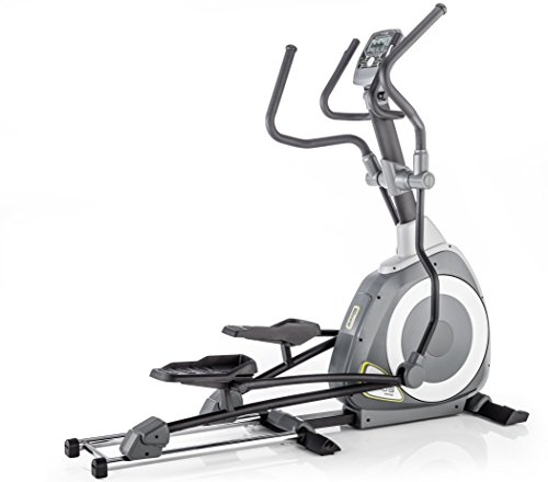 Kettler Unisex Axos P Premium Motorized Front Wheel Elliptical Cycle, Light/Dark Grey/Yellow