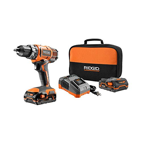 Ridgid ZRR860052K 18V Cordless Lithium-Ion 1/2 in. Compact Drill Driver (Renewed)