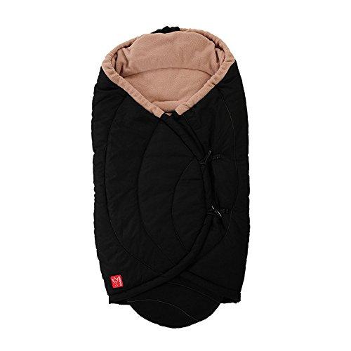 Kaiser Coo Coon Einschlagdecke mit Fleece schwarz