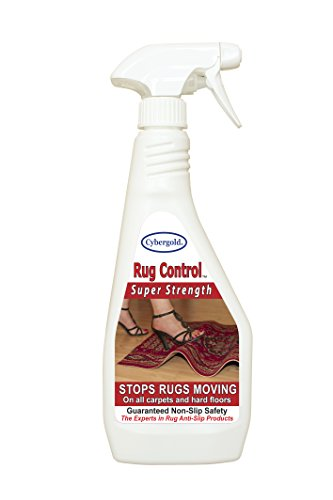 NEUE VERBESSERTE FORMEL!!! Cybergold Spray (Extra Stark) - Günstige Anti-Rutsch Teppich Lösung - Nicht Rutschen - Anti-Verschieben Teppichspray (keine Unterlage) stoppt Teppiche vom Verrutschen, Verziehen oder Verschieben auf harten Bodenflächen oder auf Teppich ~ 100% FUNKTIONIERT GARANTIERT!!!!!