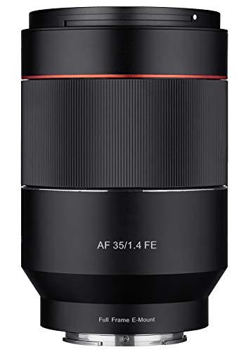 Samyang SA7041 - Objetivo AF para cámaras digitales sin espejo Sony E (distancia de enfoque de 35 mm, apertura F1.4, sensor Full Frame) color negro