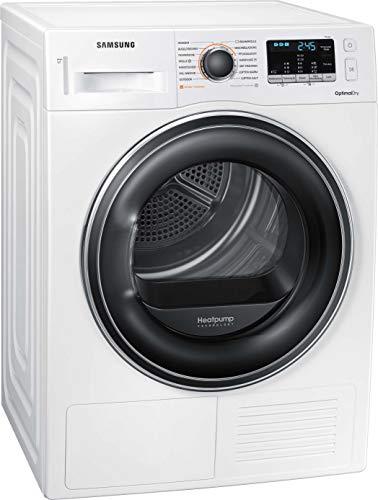 Samsung DV5000 DV8EM50102W/EG Wärmepumpentrockner 8 kg/A++ / OptimalDry – Sensorgesteuertes Trocknen/Pflegetrommel/Super Kurz 35´