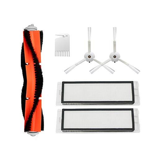 Kit de accesorios HEPA + cepillo lateral + cepillo principal para aspiradora Xiaomi Mi Robot Accesorios Roborock S50 S51 (color: E) Reemplazo (color: 3)