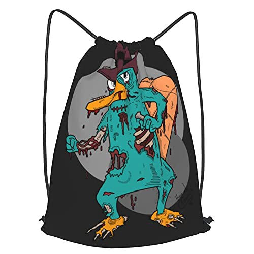 AOOEDM After Of Perry The Platypus Mochila con cordón Ligero Deporte Gimnasio Impermeable Yoga