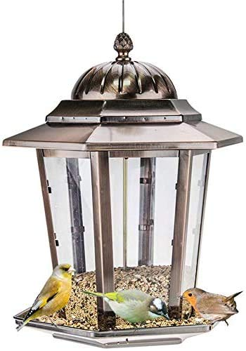 JFZCBXD Bird Feeder Garten Vogel-Zufuhren Einzigartige Laterne Vögel Nahrungsmittelbehälter im Freien Vogelfutter Feeder Sonnenblume Nüsse Futterkasten