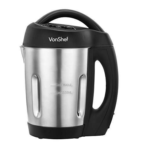 VonShef - Jug Soup Maker Machine with 1.6L Capacity