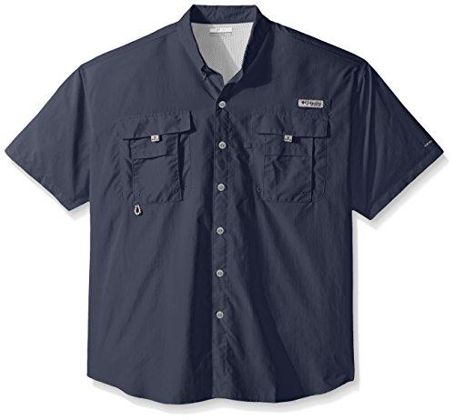 Columbia Men's PFG Bahama II Short Sleeve Shirt, Night Tide, Large