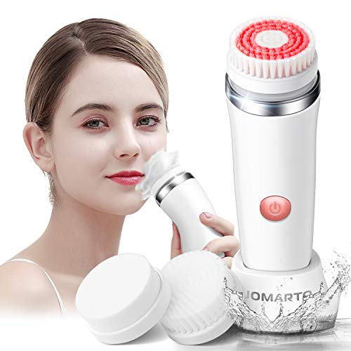 Facial Cleansing Brush Gift Kit, JOMARTO Waterproof Facial Cleansing Devices, Spin Brush with Replaceable Brush Heads, USB Rechargeable for Deep Cleansing, Gentle Exfoliating and Removing Blackhead