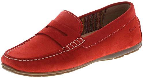 Sioux Damen Carmona-700 Mokassin, Rot (Sanguine 005), 37 EU