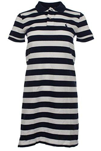 Ralph Lauren Damen Kleider (Navy/Weiß, S)