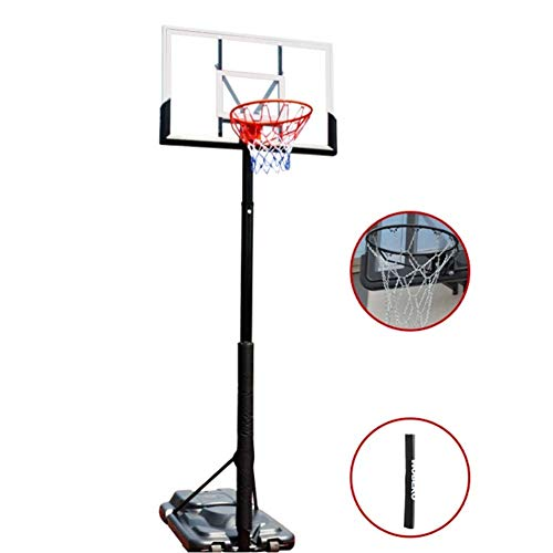 ZAIHW Portable Basketball Hoop System In-Ground Base NBA Outdoor Indoor Adjustable Height Stand Poolside