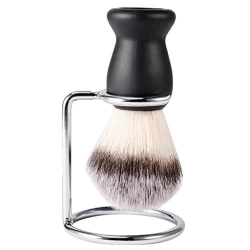 MERIGLARE Brosse De Rasage Des Hommes De Poignée Noire Avec Le Support De Support Pour Le Rasage De Barbe De Visage