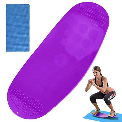 Yoga Fitness Balance Board, Tavoletta Propriocettiva Allenamento Total Body Tavola Resistente Twist Workout Attrezzi Fitness Casa,Viola