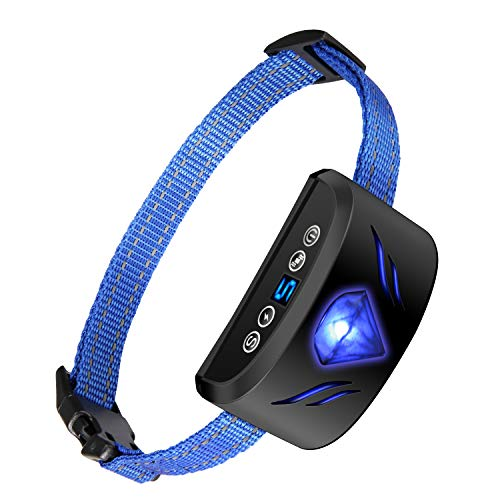 Dog Bark Collar - Electric Dog Shock Collar Anti Bark Collar with 7 Sensitivity USB Rechargeable Waterproof with Beep/Vibration, Shock for Small Medium, Large Dogs