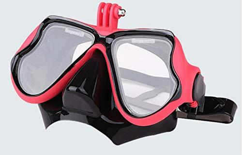 Xihaoer Action Camera's Snorkeling Set Siliconen Duiken Glas Droog Top Scuba Masker, Gehard Glas Panoramisch Freediving Masker met Siliconen Mond Stuk voor GoPro Hero 8/7/6/5,Eken, AKASO