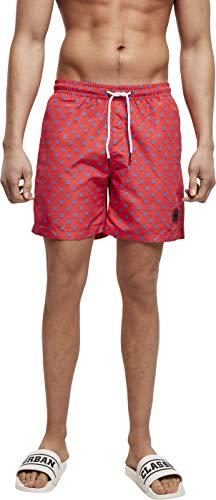 Urban Classics PatternSwim Shorts Baador para Hombre, Lil Yacht AOP, XL