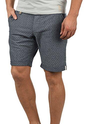 Blend Sergio Herren Chino Shorts Bermuda Kurze Hose Mit Rauten-Muster Aus 100% Baumwolle Regular Fit, Größe:M, Farbe:Navy (70230)