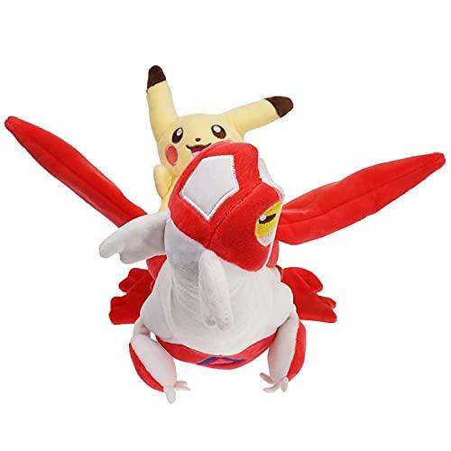 yskcsry Pokemon Latias con Muñecos De Peluche Pika 30Cm, Dibujos Animados Anime Pokemones Latios Lapras Tipo Agua con Pikach Juguetes De Peluche Regalos para Niños