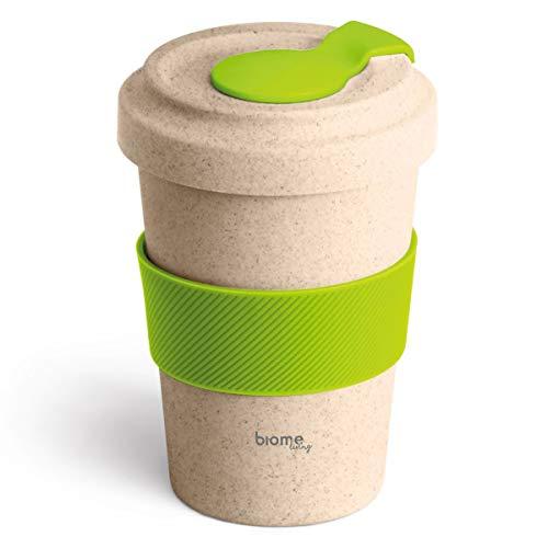 Biome Living Taza de café de bambú de 500 ml, portátil y...
