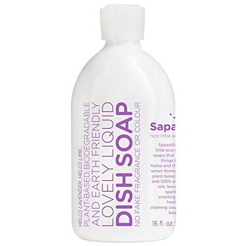 Sapadilla Sweet Lavender + Lime Biodegradable Liquid Dish Soap, 16 Ounce,101651