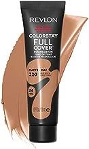 REVLON ColorStay Full Cover Longwear Matte Foundation, Heat & Sweat Resistant Lightweight Face Makeup, True Beige (320), 1.0 oz