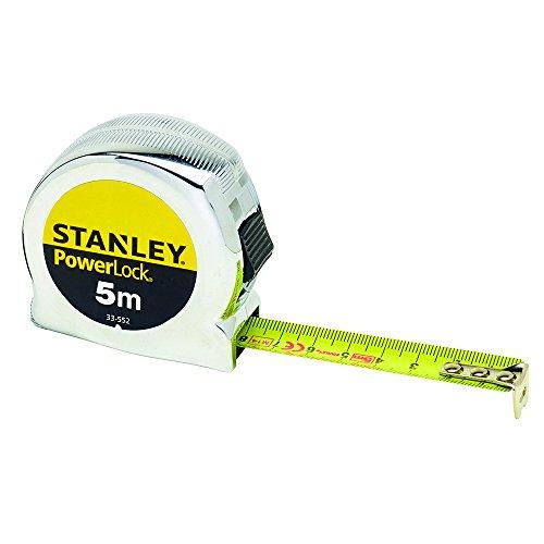 Stanley 0-33-552 Cinta métrica Micro Powerlock, 5 m, 0-33-532, Negro, 5m