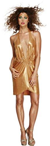 Fever, Vrouwen jaren '70 Disco Diva kostuum, Glitter jurk en hoofdband, Maat: M, 43476