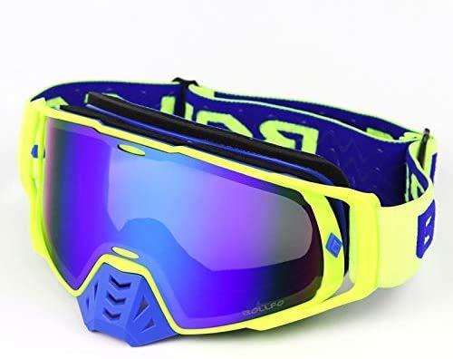 XinYiC Gafas de motocross Gafas de casco de motocicleta Mx Off Road Dirt Bike Deporte Gafas de esquí Máscara Moto Gafas Azul