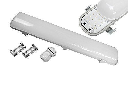 Réglettes LED Etanche IP65 Eclairage Plafonniers LED Tube Extérieur 150CM 60W 4750LM, SMD, 4000K Lumière Blanc Naturel pour Garage [Classe énergétique A+] (4000k lumière naturel du jour)