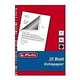 Herlitz 10303725 - Papel carbón (25 hojas, A4)...