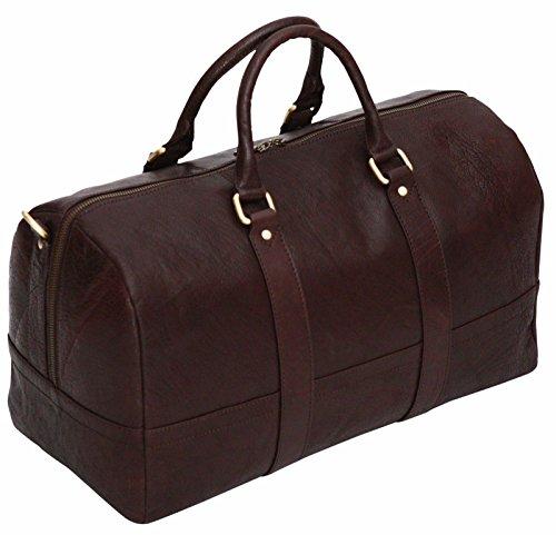 Bolsa de viaje - Ideal como equipaje de cabina - Cuero auténtico - Grande