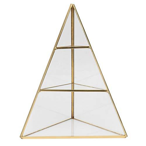 Happyyami Organizador de Joyas Piramidal 3 Niveles Soporte de Exhibición de Joyas Bandeja Triángulo Forma Cónica Joyero Caja DE PRESENTACIÓN DE Anillos Geométricos para Collares Pulseras