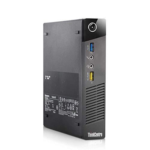 Lenovo ThinkCentre M73 Tiny Business Desktop Computer, Intel Core i3 4130T 2.9GHz, 4G DDR3, 500G, WiFi, USB 3.0, VGA, DisplayPort, Win 10 Pro 64-Bit Supports English/Spanish/French(I3)(Renewed)
